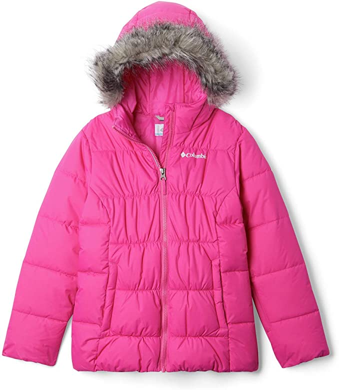 Columbia Gyroslope, Chaqueta de esquí, Niña, Rosa (Pink Ice), Talla: M