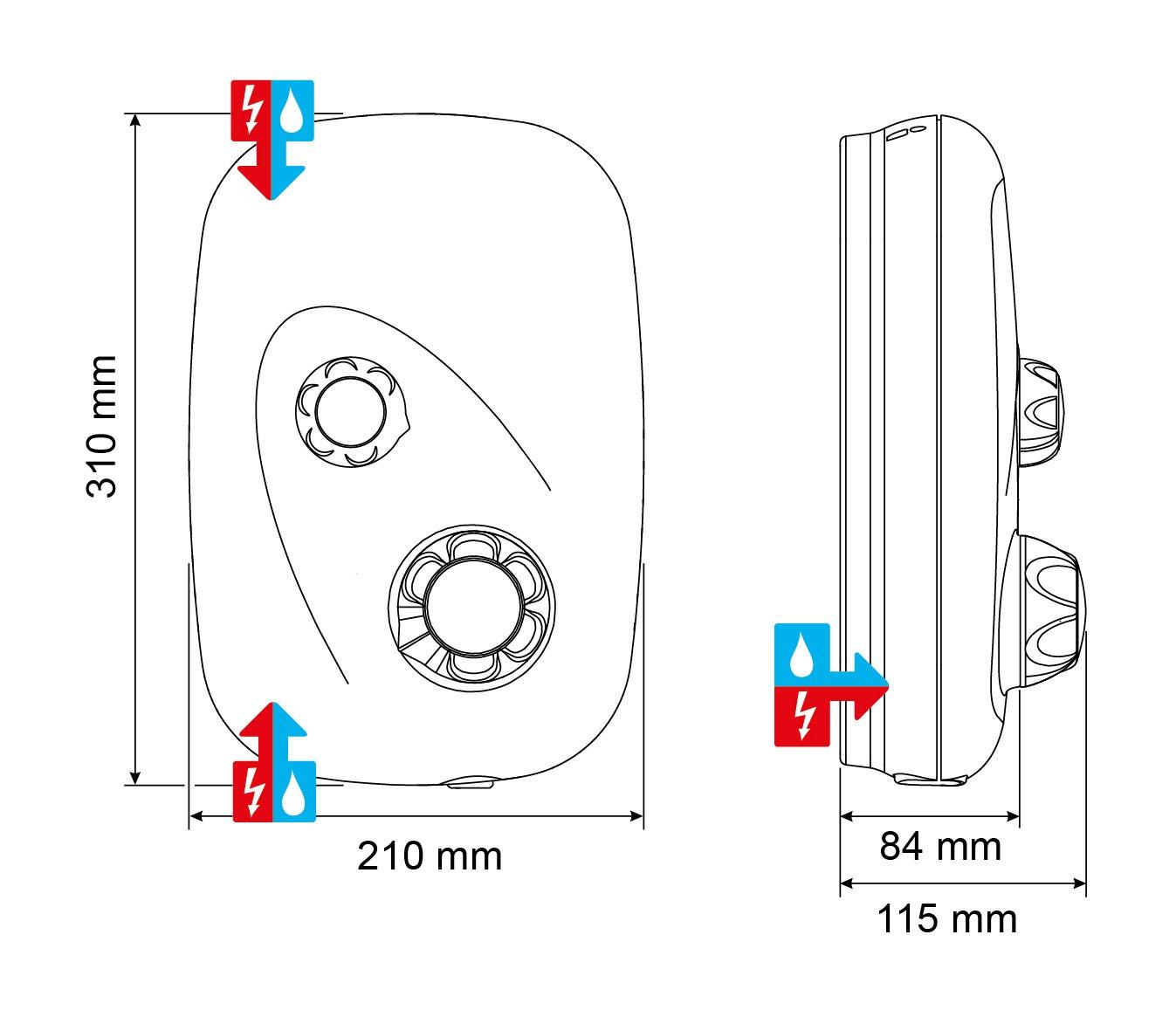 White Mira Showers 1.1532.401 XS Event Manual Power Shower