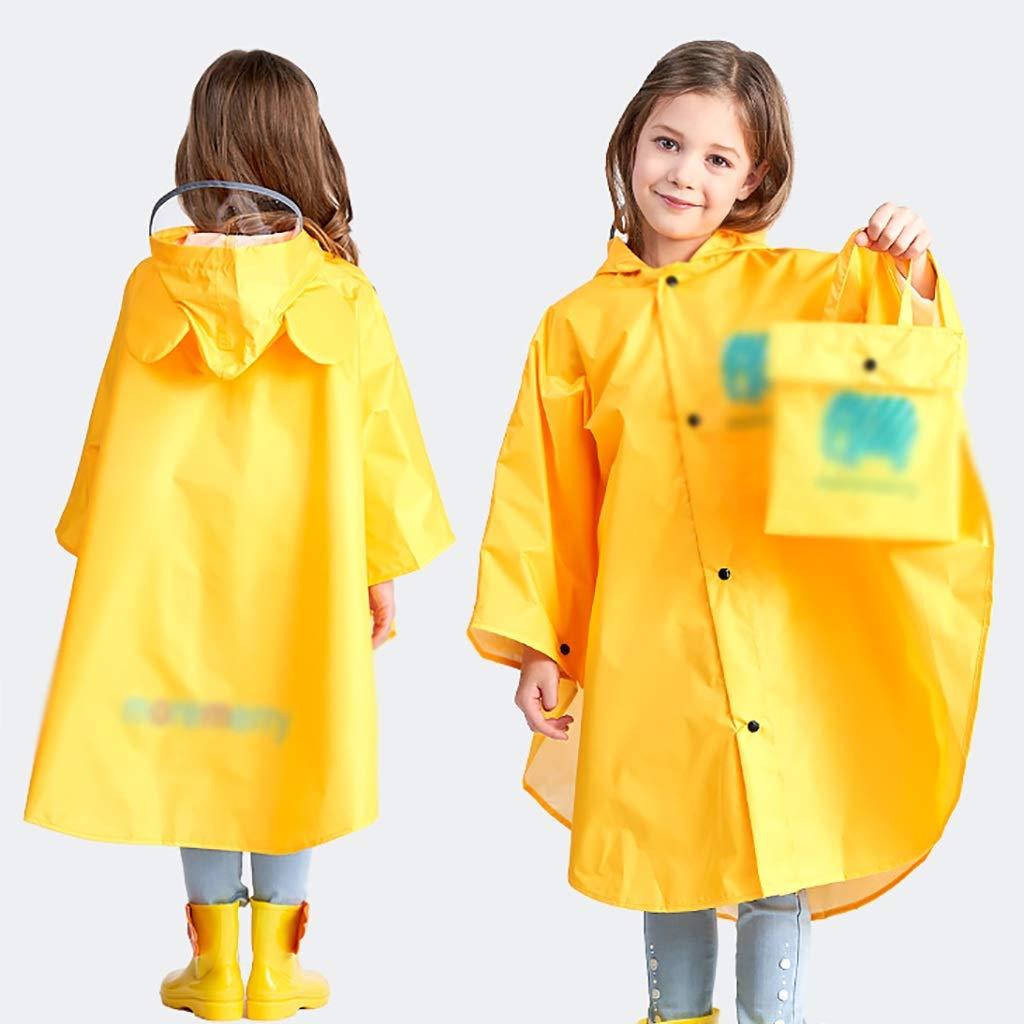 jaune grand HYHyi Imperméable Enfants Poncho pour Enfant garçon Fille Enfant Enfant d'Âge préscolaire imperméable Les Filles (Couleur   rose, Taille   XXL)