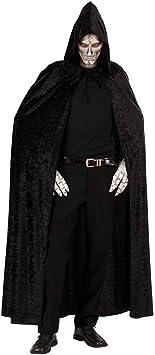 schwarzer Kapuzenumhang HALLOWEEN Hexe Vampir Dracula Fasching Umhang Cape Tod