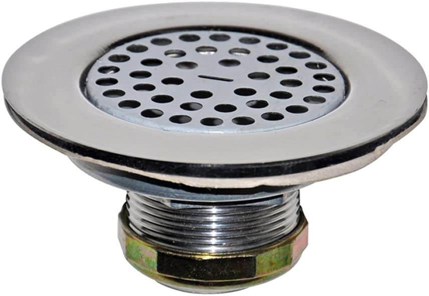 "Danco 10644 4-1/2"" Mobile Home Flat Top Shower Drain Strainer, Chrome"