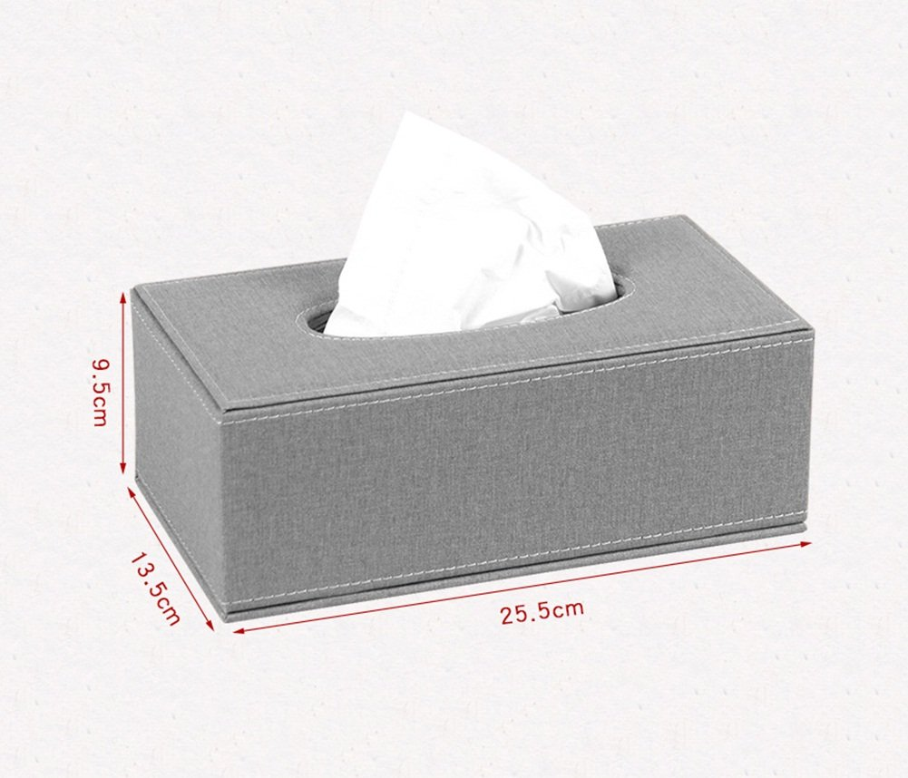 DESTRB Nordic Modern Living Room Creative Tissue Box Stylish and Simple Household Tray Tray Napkin Box Home Leather MDF Frame Durable (Color : B, Size : 25.513.59.5cm)