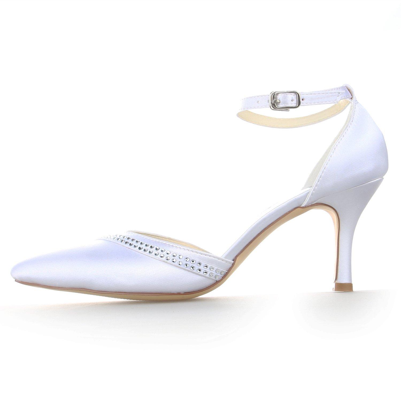 De A3139 Femme Bout Chaussures Pointu Talon Mariée Jia Haut Pour RZER7w