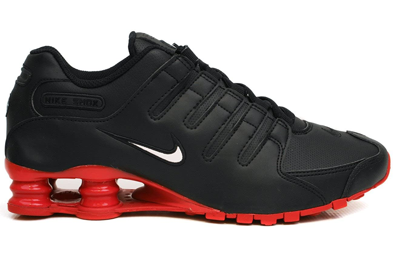 picked up multiple colors authentic Nike Shox NZ Mens Running Shoes [378341-000] Black/White/Red ...