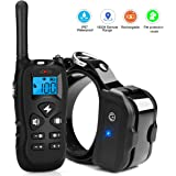 Kungber Dog Training Collar,Rechargeable Dog Shock Collar with Remote,Up to 1800Ft Range,with Beep/Vibration/Electric Shock/Light Modes,100% Waterproof Bark Collar,Safe for Small Medium Large Dogs