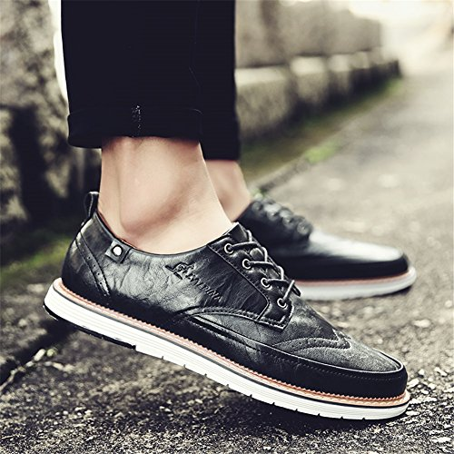 da Brown Scarpe PU uomo C Pure XUE Grey formale Business Black Estate lavoro Shoe Lace Primavera Pure Traspirante Pure Casual Business leggero up Scarpe Bianco 1w7xxtAEq5