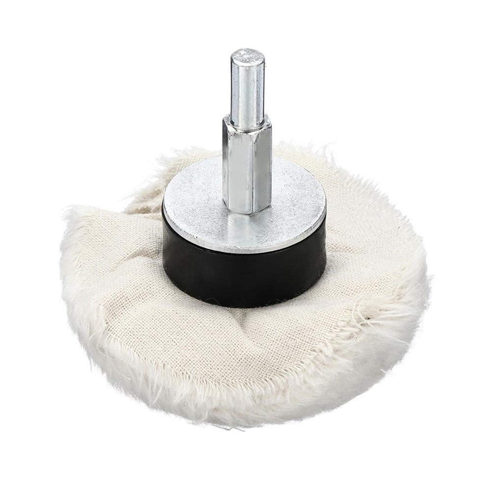 CHUNSHENN 6pcs Polishing Wheel Buffing Pad Mop Wheel Kit Cloth Cotton Buffing Wheel Grinding and Polishing Buffing Wheels