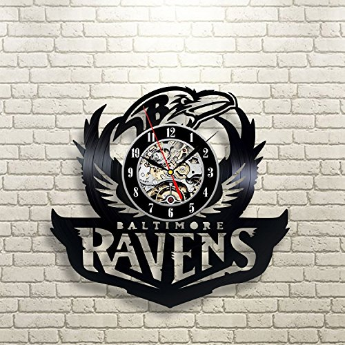 Baltimore Ravens Home Decor: Baltimore Ravens Vinyl Record Clock Wall Art Home Decor