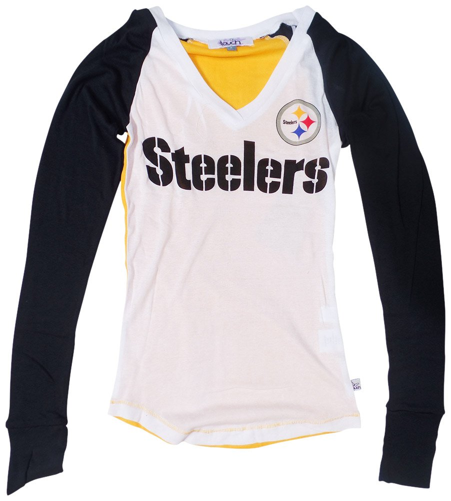 e70960c04 Amazon.com   Pittsburgh Steelers Womens Team Pride Long Sleeve T-shirt  Small   Sports   Outdoors