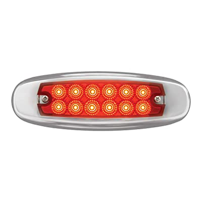 GG Grand General 76442 Red/Red Light (Ultra Thin Spyder Rd 12LED Dual Function with S.S. Rim): Automotive