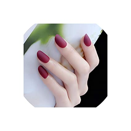 24 uñas postizas de acrílico negro para niñas con uñas ...