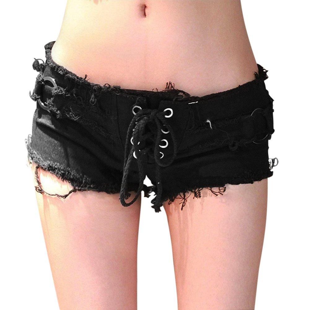 Fashion Story Womens Sexy Clubwear Low Waist Ripped Denim Hot Shorts