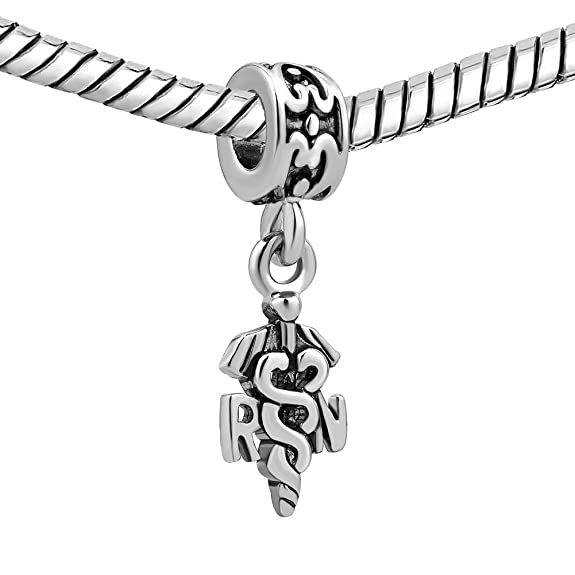 Amazon Com Lovelycharms Rn Nurse Bead Jewelry Sale Fits Pandora