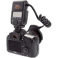 Meike MK-14EXT LED E-TTL makroringblixt för Canon 5D II III 6D 7D 60D 70D 700D SLR-kamera med 7 adapterring