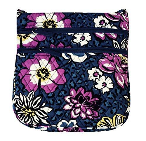Vera Bradley Triple Zip Hipster Cross-body Bag (African Violet with Purple Interiors)