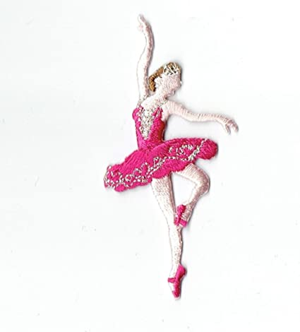 Ballerina Dance Patch Iron Sew On Clothes Embroidery Applique Embroidered Badge
