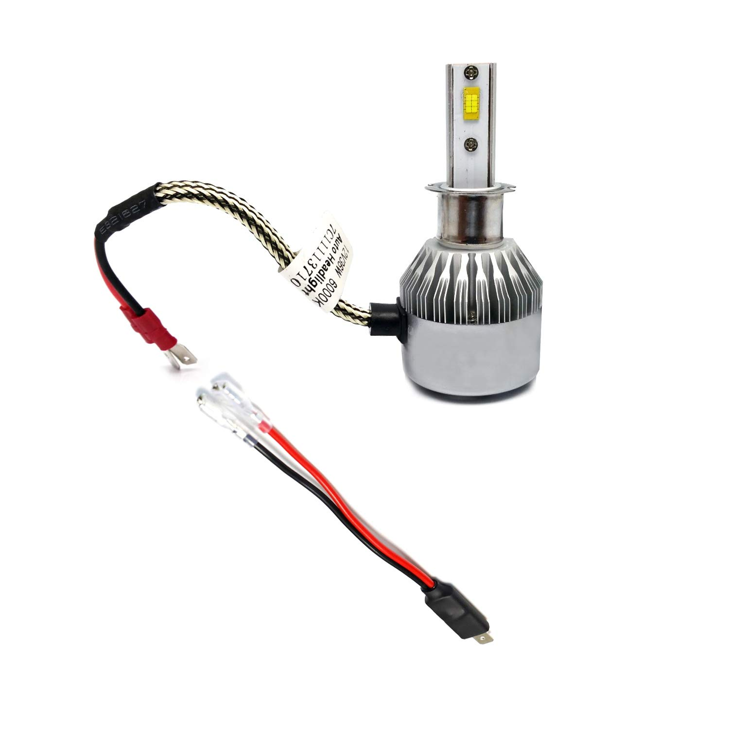 iJDMTOY (2) OEM H1 Socket/Adapter Wires For HID or LED Headlight Bulbs on