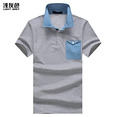 Camisa De Polo Casual para Hombre Fit De Camisa Slim Polo De Manga ...