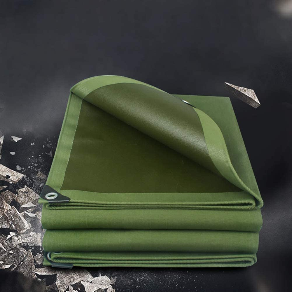 Lona Resistente de 600G / M², Lona Impermeable, Lona Grande de la Sombra, paño al Aire Libre de la Cubierta Que acampa 1.5M×2M