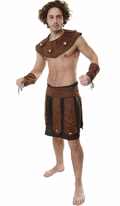 Amazon Com Adults Gladiator Greek Soldier Fancy Dress Costume Mens