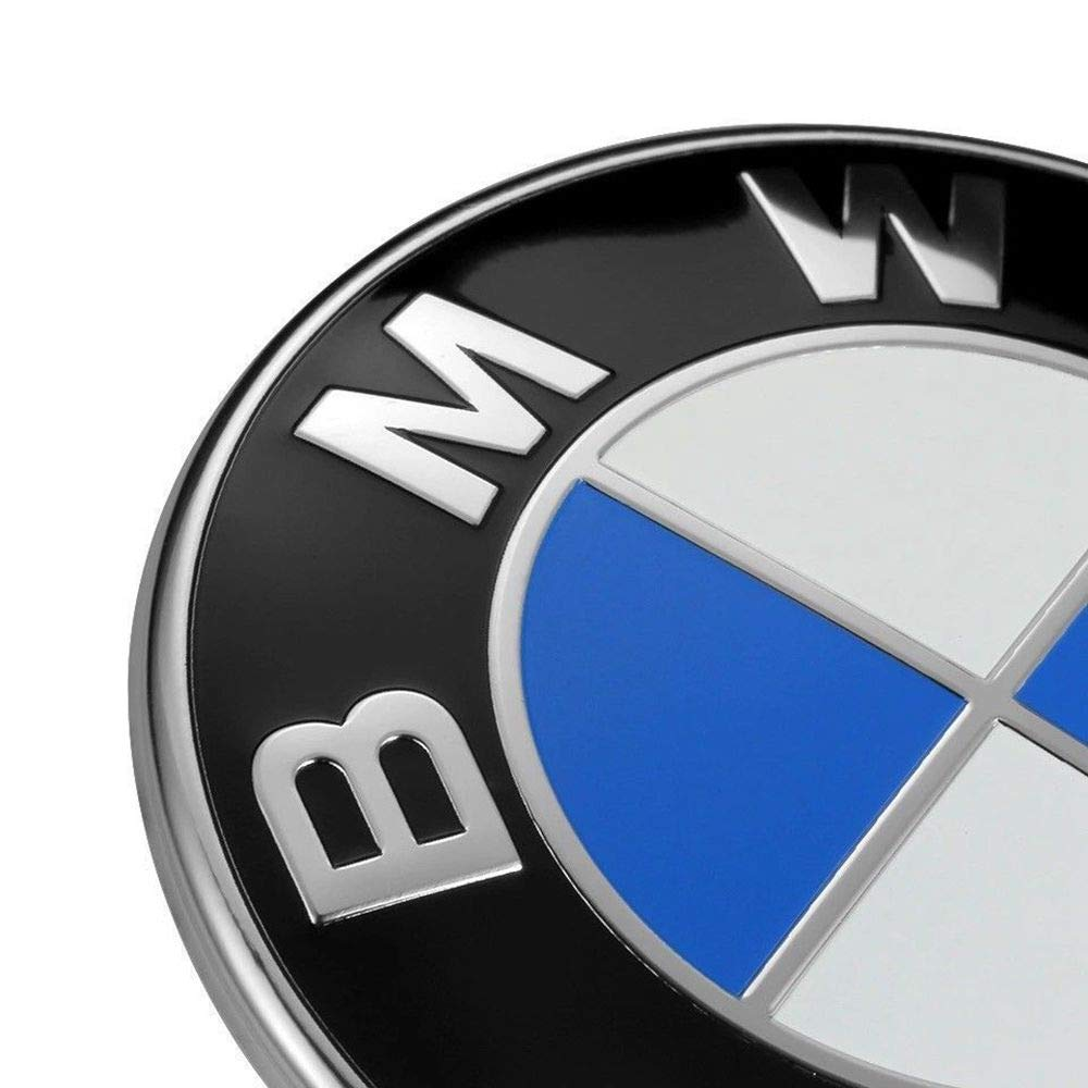74mm BMW Emblem X1 7-Series X5 5-Series X3 6-Series 2 Pin Replacement Badge Hood or Trunk Logo Fit for BMW 3-Series