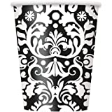 9oz Black Damask Party Cups, 8ct