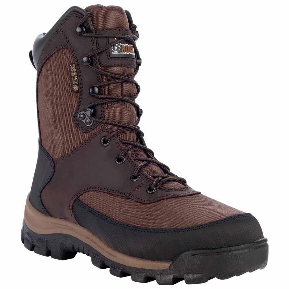 Rocky Men's FQ0004753 Mid Calf Boot, Dark Brown, 8.5 W US