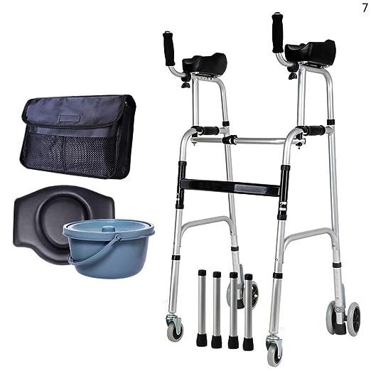 YAN Jun YC8230 Ancianos, Andador Estándar, Altura Ajustable ...