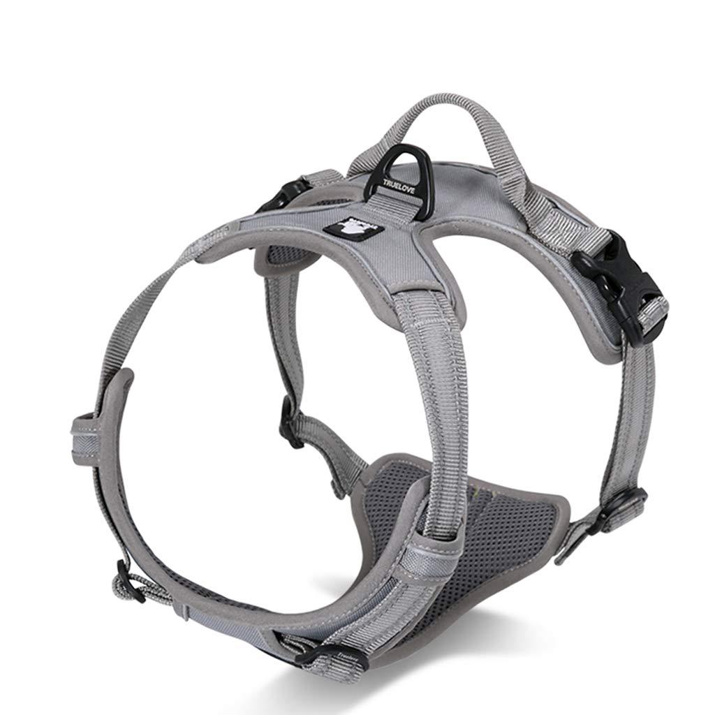 10 XlQIQIPET Dog Collar Harness Pet Vest Harness Dog Leash ExplosionProof Pet Supplies (color   5, Size   M)