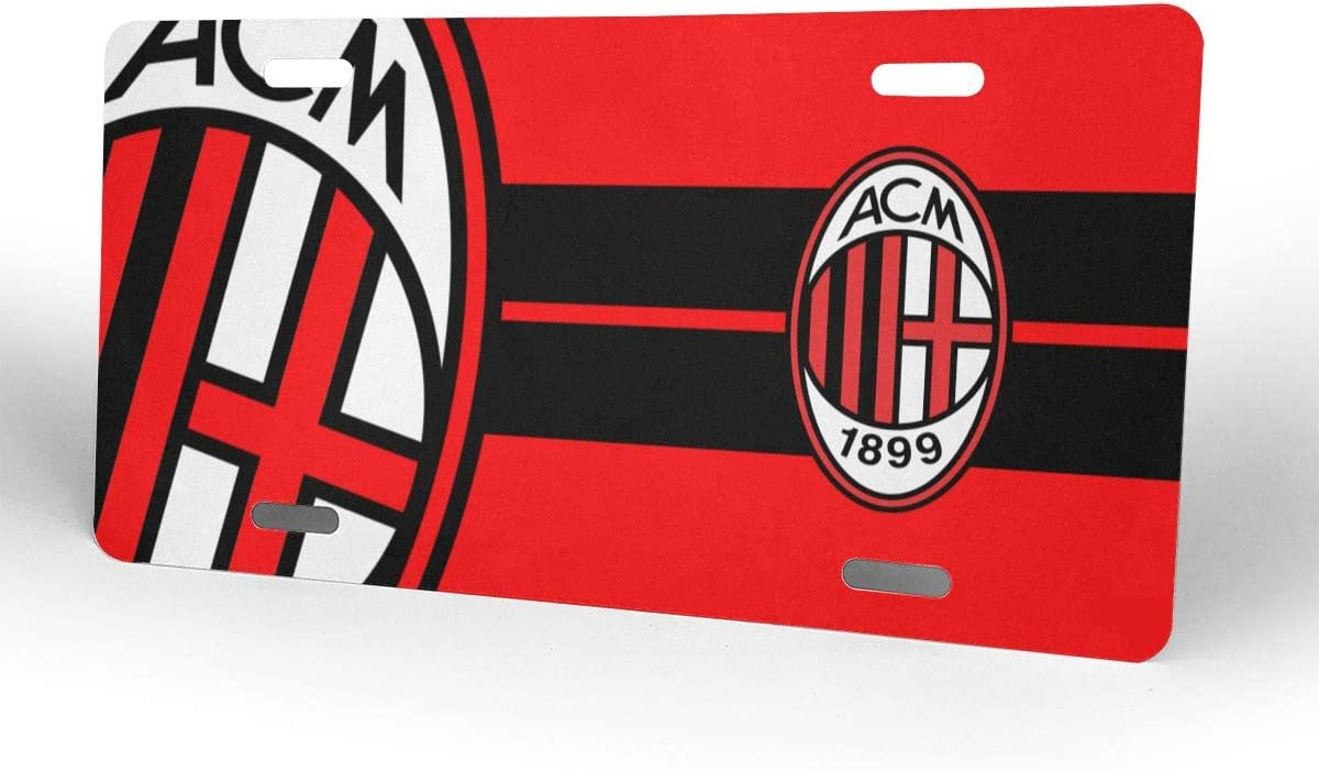 4 Holes AQC16FC Football Team Decorative Car Front License Plate,Vanity Tag,Metal Car Plate,Aluminum Sports Fan License Plate Covers,6x12 Inch