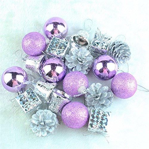 20PCS Christmas Tree Ball Bauble Hanging Xmas Party Ornament Decoration Pendants Home Decor