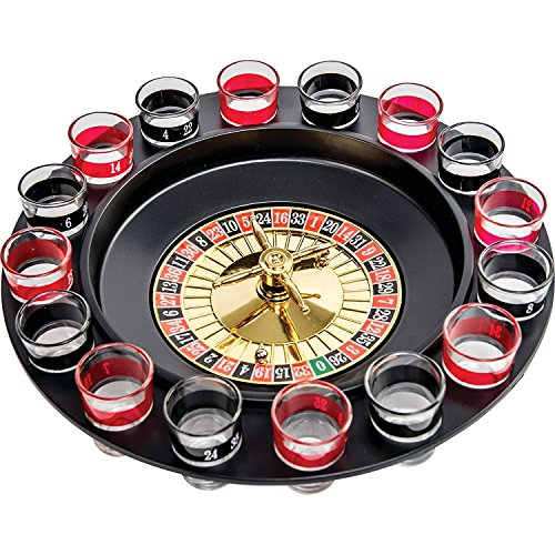 Gifts Infinity Shot Glass Roulette - Drinking Game Set (2 Balls and 16 Glasses) …