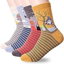 Zabrina 4 Pairs Japan Animation Totoro Series Women's Socks