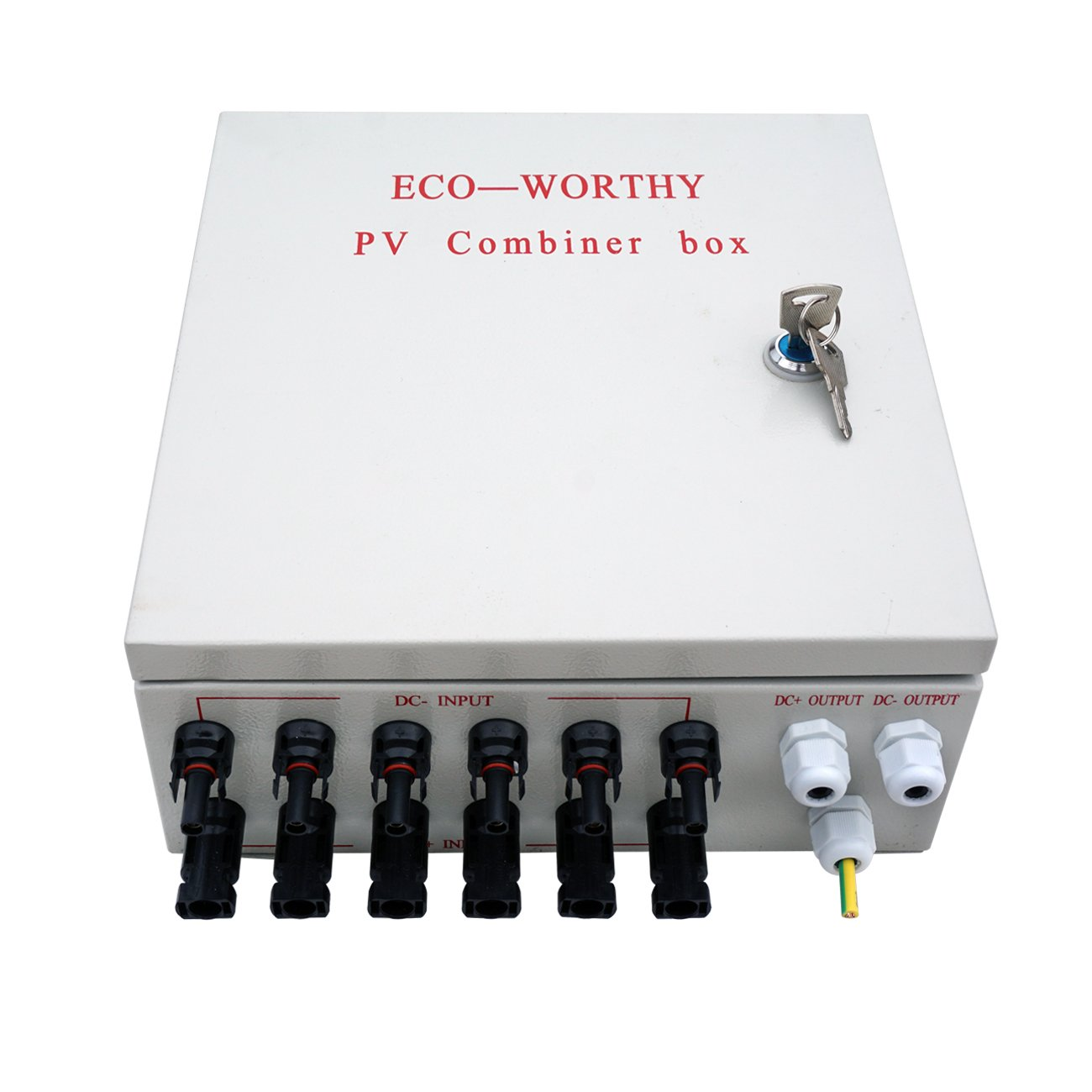 ECO-WORTHY 6 String PV Combiner Joint Box & 10A Circuit Breakers for Solar Panel by ECO-WORTHY