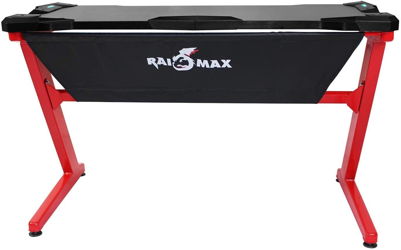 Drakon PK-101 Escritorio para Juegos con LED, Z-Shape Compter PC Escritorio para Juegos para E-Sport: Amazon.es: Hogar