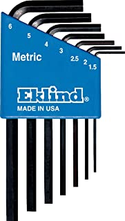 product image for EKLIND 10507 Hex-L Key allen wrench - 7pc set Metric MM sizes 1.5-6 Short series