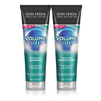 John Frieda Volume Lift Lightweight Shampoo and Conditioner Set for Natural Fullness, Volumizing Shampoo and Conditioner for Fine or Flat Hair, Safe for Color-Treated Hair, 8.45 Ounces