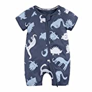 8cf6facc1 Lisin Baby Jumpsuit,Toddler Newborn Baby Boys Girls Dinosaur Zipper Rompers  Jumpsuit Outfits Clothes (Navy, Size:18Months)