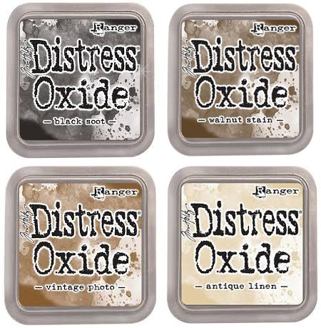 (Tim Holtz Ranger Distress Oxide Ink Bundle E - Four 3
