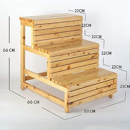Escalera de madera maciza a prueba de agua resistente a la corrosión antideslizante escalera de doble