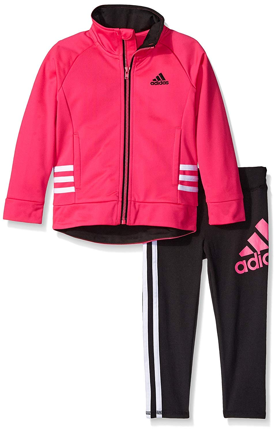 Adidas Girls 2 Piece Active Set Pink Size 6