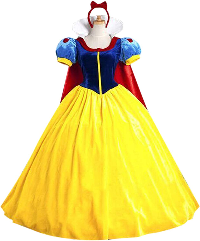 Zamtapary Disfraces para Adultos Mujeres Snow White Disfraz Navidad Halloween Cosplay con Heandwear