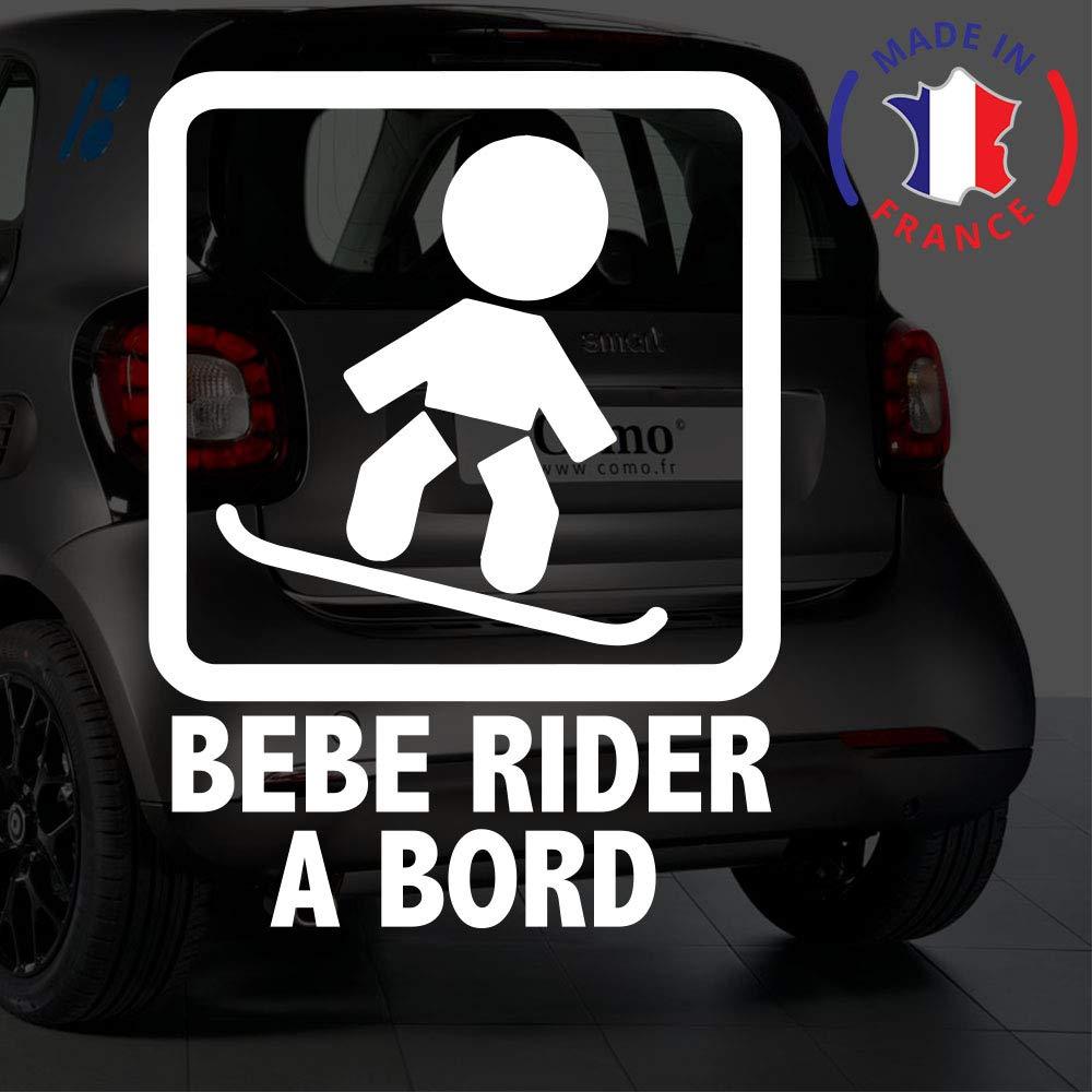 Sticker bébé à bord pour voiture Bébé Rider à bord 20 cm Blanc - Anakiss