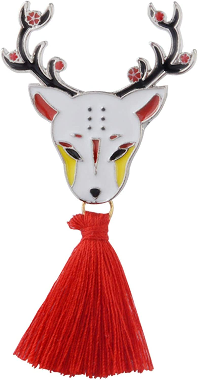 Amazon.com: JITALFASH brooch Pin Japanese Deer Rabbit Snake ...