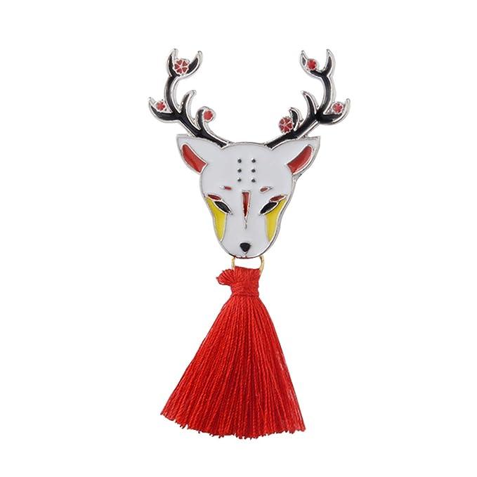 Amazon.com: Pin japonés Deer conejo serpiente Fox Kabuki ...