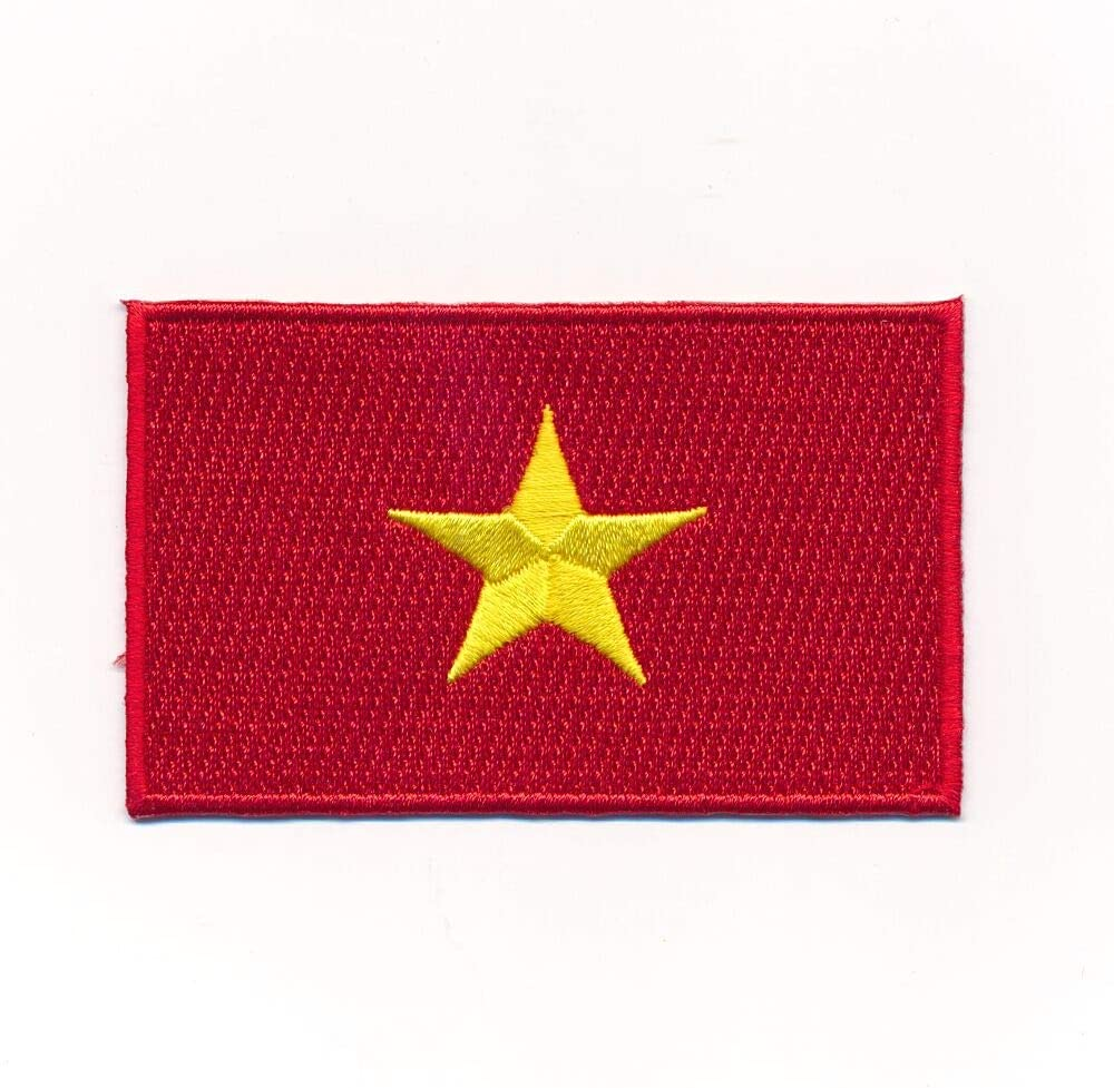Hegibaer 30 X 20 Mm Vietnam Flagge Flag Hanoi Asien Patch Aufbügler Aufnäher 1161 Mini Auto