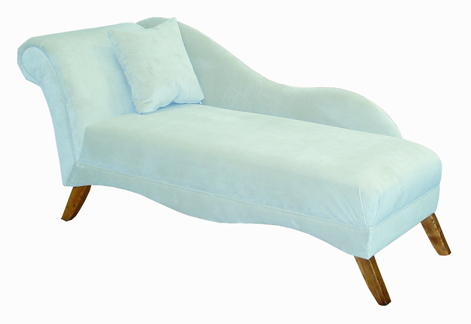 Amazon.com Isabella Single Arm Chaise Lounge by Skyline Furniture in Pool Blue Velvet Kitchen u0026 Dining  sc 1 st  Amazon.com : blue velvet chaise lounge - Sectionals, Sofas & Couches