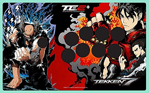 (Tekken 7 authorized special red faceplate Fight Stick Art for Mad Catz TE2 and TE2+ (VEWLIX layout))