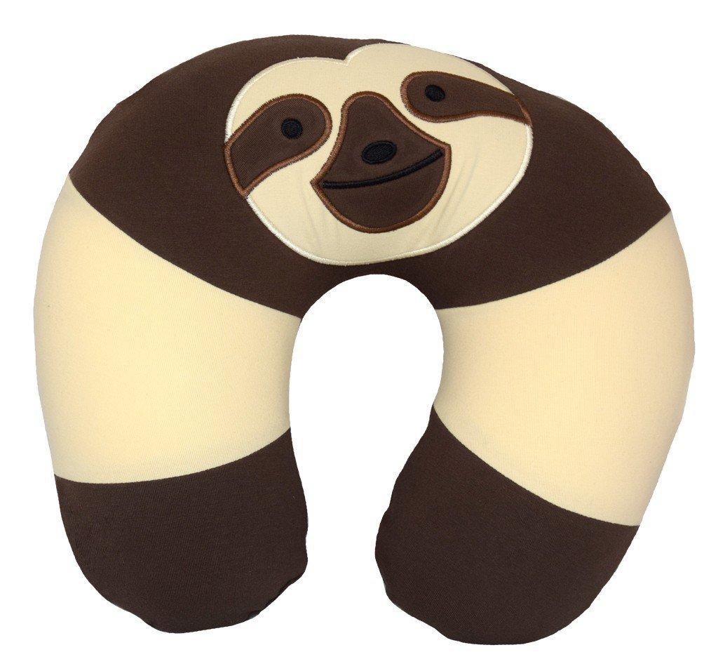 Yogibo Nap Mate Fun Animal Travel Neck Pillow for Kids or Adults (Sloth)