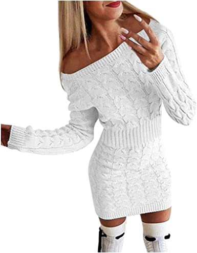 PAOLIAN_Vestido Para Mujer Vestido para Mujer Punto Cortos ...